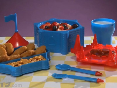 Castle Dinner Set - Child's dinnerware that looks like a castle