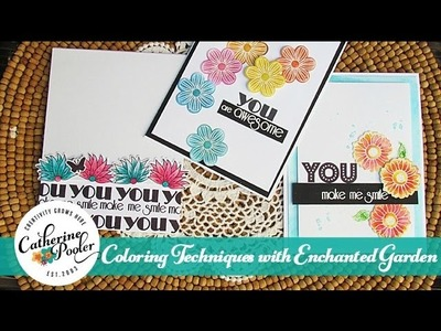 Coloring Techniques with the Enchanted Garden Stamp Set