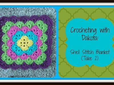 Crocheting With Dakota: Beautiful Shell Stitch Blanket (take 2)