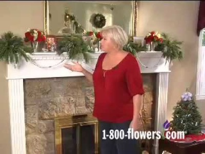 Decorating a Holiday Fireplace Mantel with Julie Mulligan