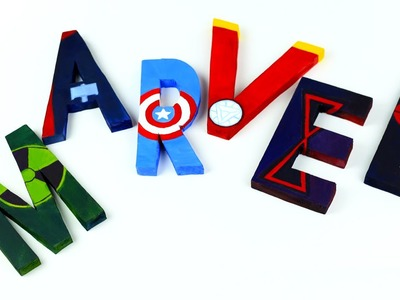 DIY Avengers Room Decor - 3D Letters