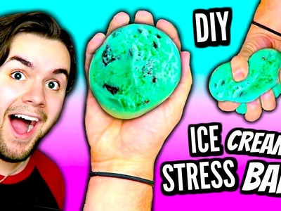 DIY Ice Cream Stress Ball! | How To Make A Squishy Mint Chocolate Chip DIY Stress Ball Tutorial