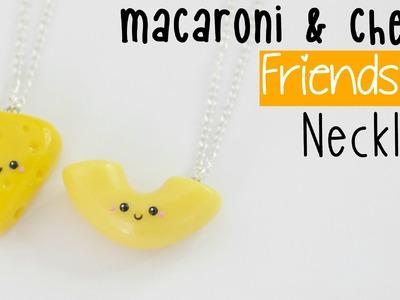 DIY Macaroni & Cheese Friendship Necklaces
