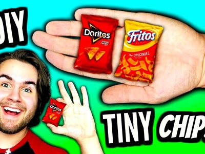 DIY Mini Chips | How To Make Tiny Doritos, Fritos, & Lays Bags Of Chips | Miniature Tutorial