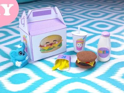 DIY Miniature Happy Meal: Doll Fast Food (Burger, Fries, Milk, & Soda)