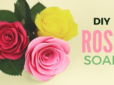 DIY: Rose Soap without using a Mold | How to make Rose shaped Soap without a mold!