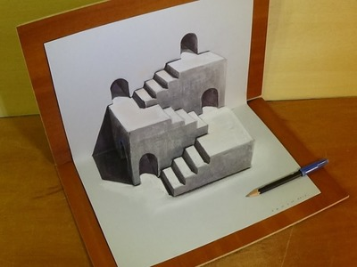 Drawing Three Dimensional Space, Stairs Illusion & Trick Art