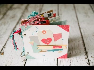 Envelope Mini Album Process Video- Clique Kits Feb. Project #1