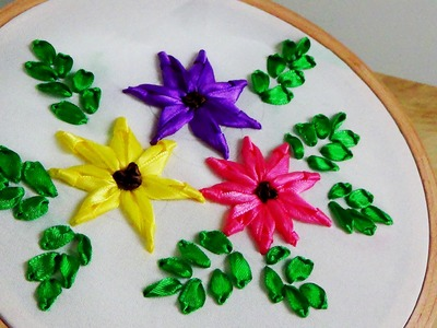 Hand Embroidery: Ribbon Flower Embroidery