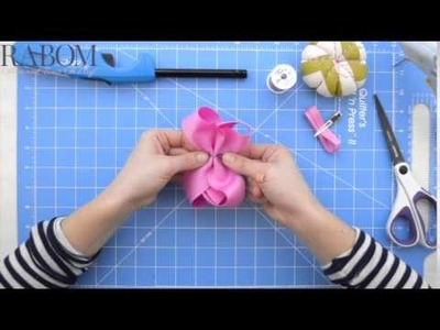 Hold and Fold RABOM Boutique Bow Tutorial