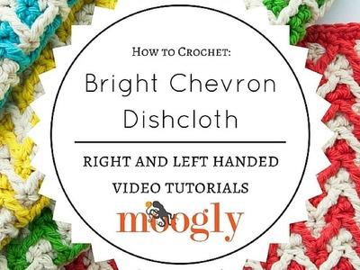 How to Crochet: Bright Chevron Dishcloth (Right Handed)