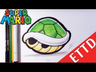 How to Draw a Shell from Mario Bros - Easy Things To Draw