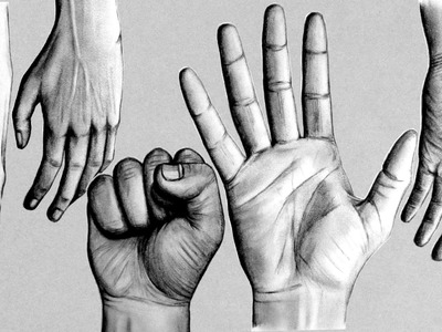How to Draw Hands - 5 Different Ways