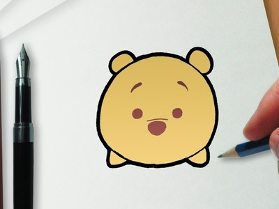 How to Draw Winnie the Pooh Disney Tsum Tsum version