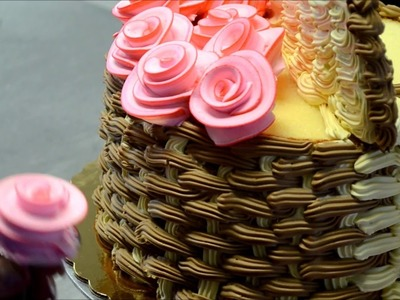 How to Make 3D Basket of Flowers Cake
