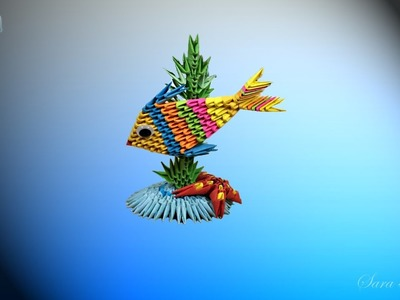 How to make 3d origami fish and See Star