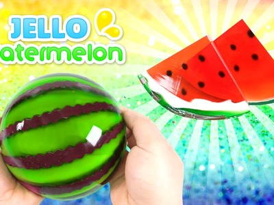 How to Make a Jello Watermelon !! GUMMY JELLO WATERMELON SLICES - MonsterKids