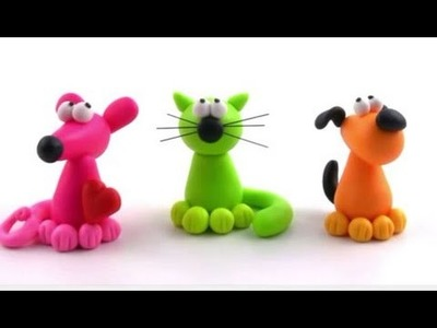 How to make Play-Doh clay PETS | Mouse | Cat | Dog easily, lovely