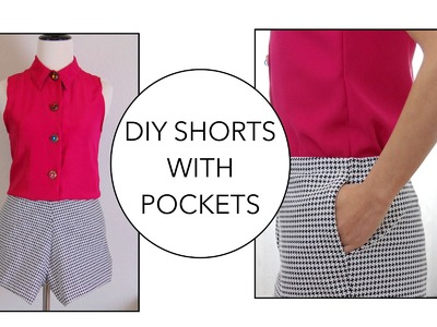 How to sew Shorts with pockets