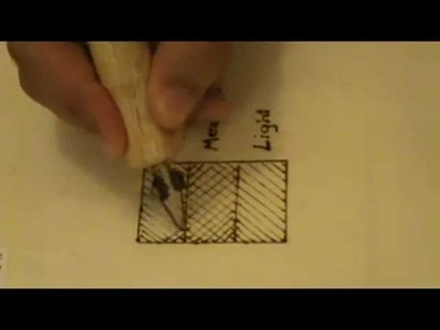 How to shade simply using Pyrography. wood burning