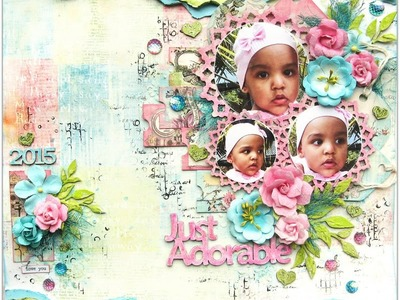 Just Adorable By Di Garling - Using Gelatos to colour chipboard