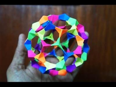 Modular Origami - How to make Modular Football Sphere Origami