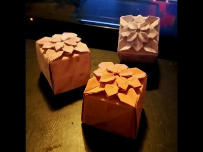 Origami Hydrangea Cube or closed box (full video)