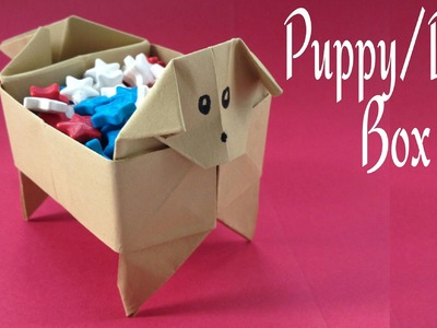 "Origami Paper ""Dog.Puppy Box"