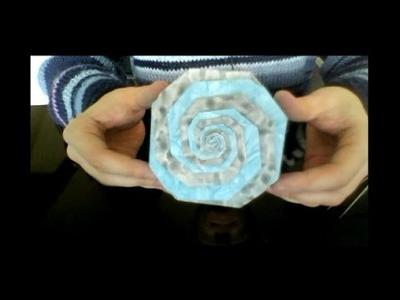 Origami spiral box (full video)