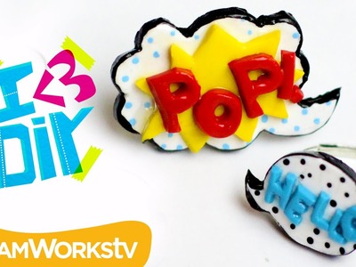 Pop Art Polymer Clay Rings | I ♥ DIY