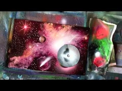 Spray paint art tutorial galaxy effects and high gloss finish
