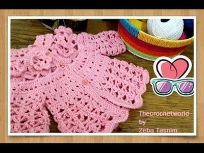CROCHET BABY PINK DRESS-4