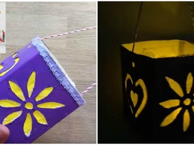 Cute Luminaries made from Cartons (Recycled Crafts)