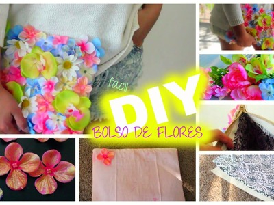 DIY Bolsa de Flores-CARTERA DE MANO ♡ Clutch De Flores (Cartera)