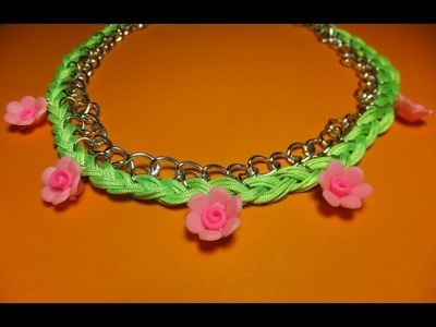 DIY  Collar con flores y trenza