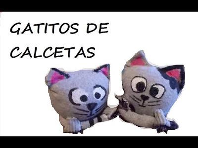 DIY GATITOS LINDOS HECHOS CON CALCETINES¡¡¡