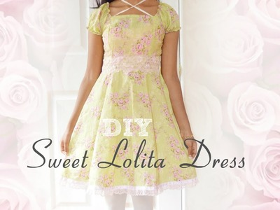 ❤️ DIY Sweet Lolita Dress ❤️ (without a pattern)