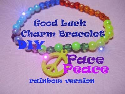 Good Luck Charm Bracelet ☮ Peace (rainbow version) ☮ Braccialetto della Pace (versione arcobaleno)
