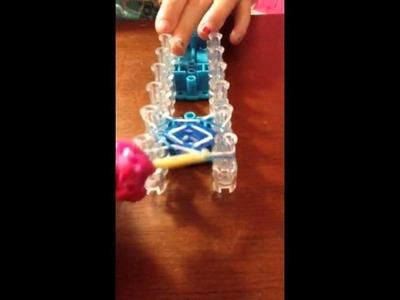 Hexafish rainbow loom keychain
