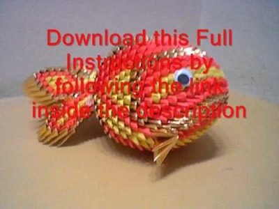 Howto 3d origami koi fish