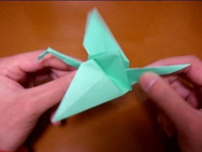 Origami flapping bird 1