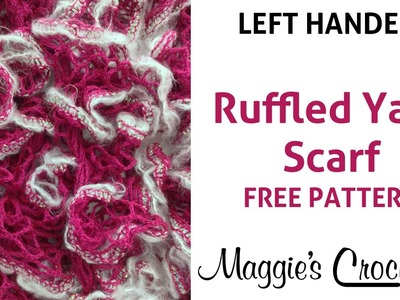 Starbella Luxe Yarn Ruffled Scarf - Left Handed