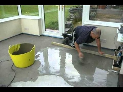 Time-lapse of self leveling floor