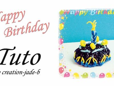 Tuto Rainbow Loom - Gâteau d'anniversaire !
