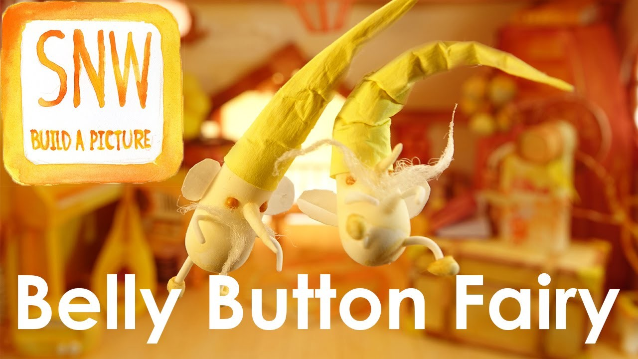 Belly button fairy -  clay crafts tutorial