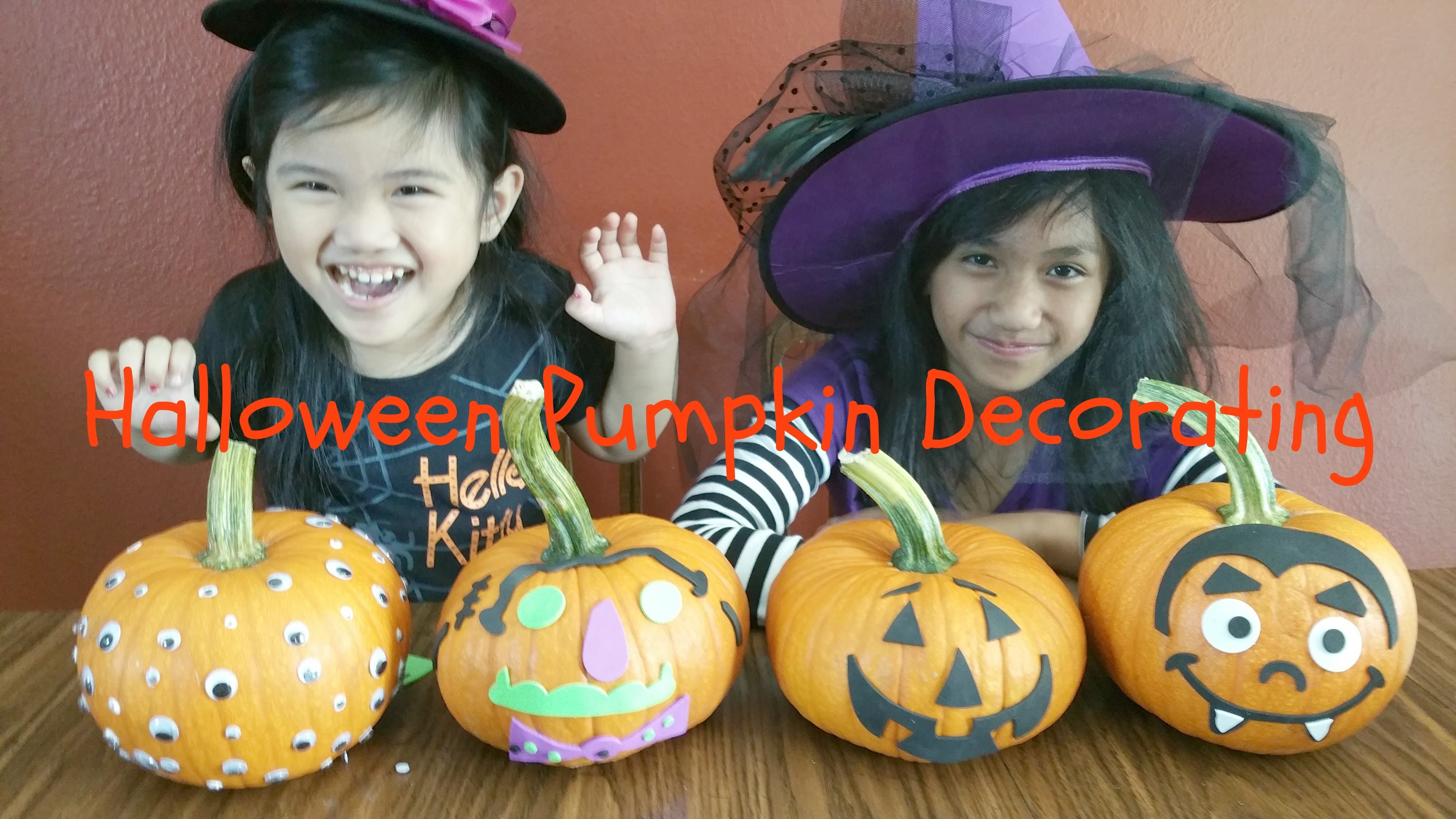 BEST ever HALLOWEEN PUMPKIN DECORATING Craft Kit + Wiggle EYES