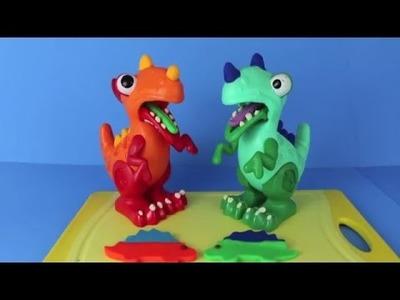 Chomposaurus ❤ Play Doh Pet Dinosaur Cookie Cutter T Rex Stegosaurus DIY Play Dough