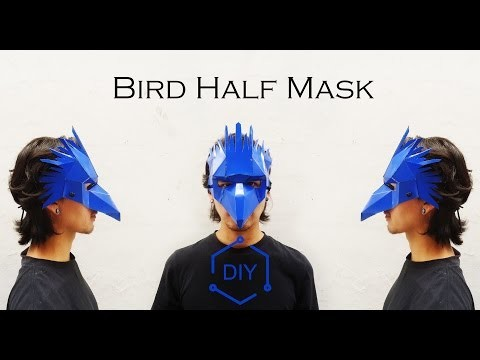 DIY - Bird Half Mask. Geometric Mask. Wintercroft