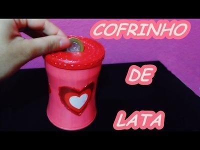 DIY - Cofrinho de Lata