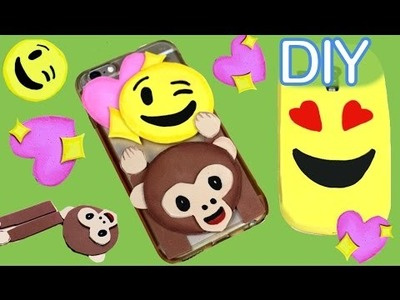 DIY emoji phone cover with foam craft or EVA foam